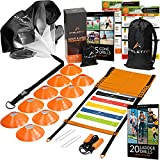 Athletivi Speed & Agility Training Set - Ladder Kit with Fixed-Rungs, Cones, and Resistance...