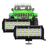 """7"""" Pair Phare de Travail LED 240W 24000LM 6000K Feux Tracteur Barre LED..."""