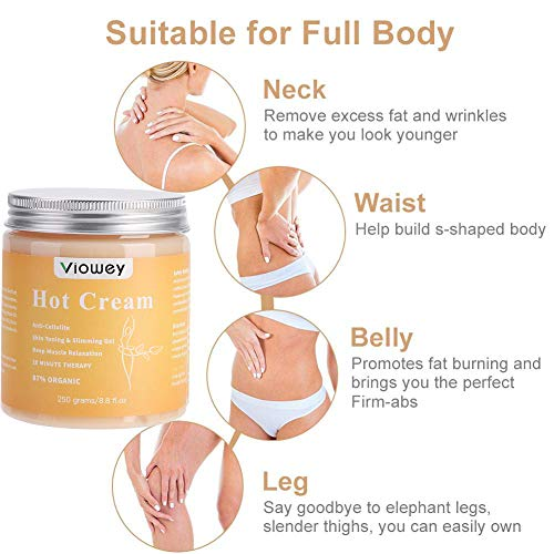 Hot Massage Cream, Cellulite Hot Cream, Body Slimming Firming Fat Burner for Tightening Skin Weight Loss Body Shaper, 8.8 Ounce 3