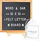 Word and Oak Grey Felt Letter Board with 304 Changeable White Plastic Letters 10 x 10 in.
