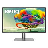 BenQ PD2720U 27 inch 4K UHD IPS Monitor | HDR |AQCOLOR for Color Accuracy| Custom Modes |eye-care tech | Thunderbolt 3,Grey