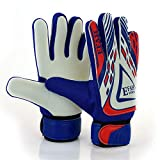 EFAH Soccer Goalie Goalkeeper Gloves for Kids Boys Children Football Gloves Protection Super Grip Palms (Blue/White, Size 5 Suitable for 9 to 12 Years Old)