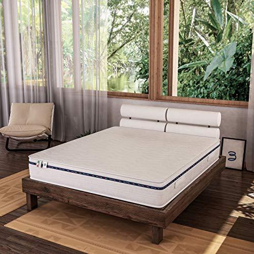 Baldiflex Materasso Matrimoniale in Memory Foam 160x190 Alto 23 cm con Rivestimento Anallergico ed...
