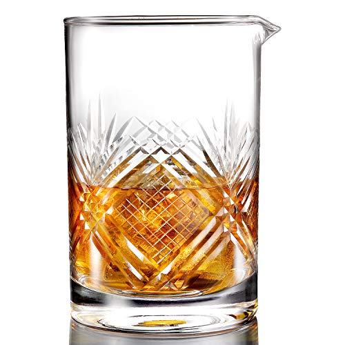 Professional Cocktail Mixing Glass - Lead Free Crystal