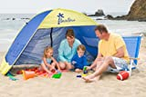 Shade Shack Beach Tent Easy Automatic Instant Pop Up Camping Sun Shelter - Blue/Yellow - Large