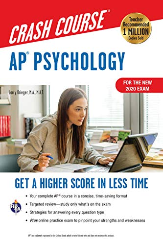 AP® Psychology Crash Course, Book + Online: Get a Higher Score in Less Time (Advanced Placement (AP) Crash Course)
