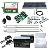 ECO-WORTHY Automatic Gate Opener Kit Solar Heavy Duty Solar Dual Gate Operator for Garage, Driveway, Villa, Cottage, Country House, Farmstead Fence