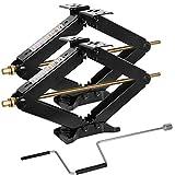 WEIZE Camper RV Trailer Stabilizer Leveling Scissor Jacks with Handle -24'- 7500lbs - Set of 2