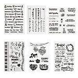 Kesote 6 Hojas Sellos de Silicona Transparente para DIY Manualidades Scrapbooking Álbumes de...