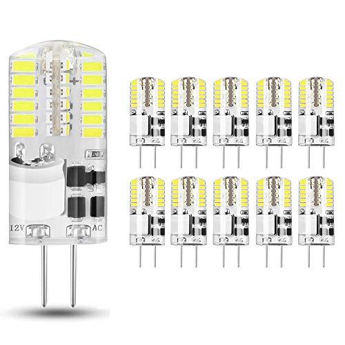 10 pezzi Lampadina LED G4 3.5W, Bianco Freddo 6000K, AC/DC 12V, Equivalente a 30W Lampada Alogena,...