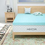 Mecor 2 Inch 2 100% Gel Infused Memory Foam Mattress Topper-King Size Ventilated Design Pressure-Relieving Bed Topper w/CertiPUR-US Certified Foam, Blue