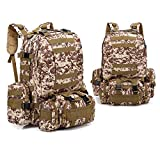 819 Mochila, gran capacidad, múltiples capas, bolsa de hombro de viaje, para senderismo, camping, senderismo, pesca, caza