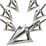 JIANZD Archery Broadheads 100/125 Grain Fixed Blades Stainless Steel X1 Hunting Broadheads for Crossbow Recurve Bow and Compound Bow