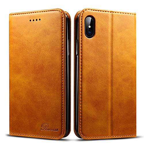 iPhone201750 iPhone8 ケース 手帳型 Rssviss アイフォン8 レザー マグネット W1 レトロブラウン