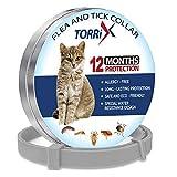TORRIX Collier Anti-puces et tiques pour Chat - 12 Mois de...