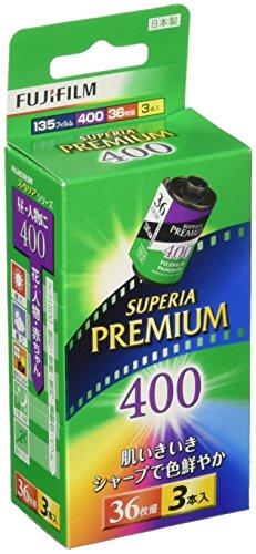 FUJIFILM カラーネガフイルム フジカラー PREMIUM 400 36枚撮り 3本パック 135 PREMIUM 400-R 36EX 3SB