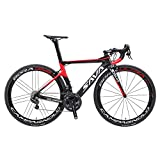 SAVADECK Phantom9.0 700C Carbon Fiber Road Bike Cycling Bicycle with Campagnolo Record EPS 22 Speed Electronic Groupset(Black Red 52cm)