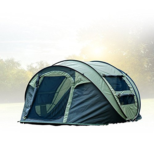 FiveJoy Instant Popup Camping Tent (2-3 Person) - NO Assembly Required - Easy Setup in Seconds - Great for Fair Weather Camping, Families, Festivals
