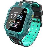 QUANLEIRC Orologio intelligente impermeabile per bambini, LBS anti-perso Smart Watch Tracker Posizione orologio mobile, Telecamera chiamata di sicurezza SOS Chiamata bidirezionale, Verde