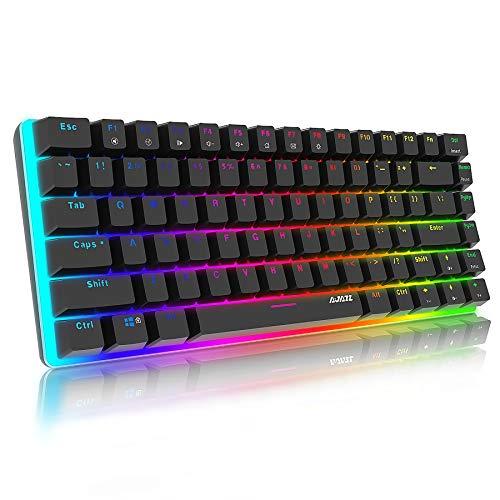 Teclado mecánico Gaming RGB Azul Switch Ajazz AK33 82 Teclas 100%...
