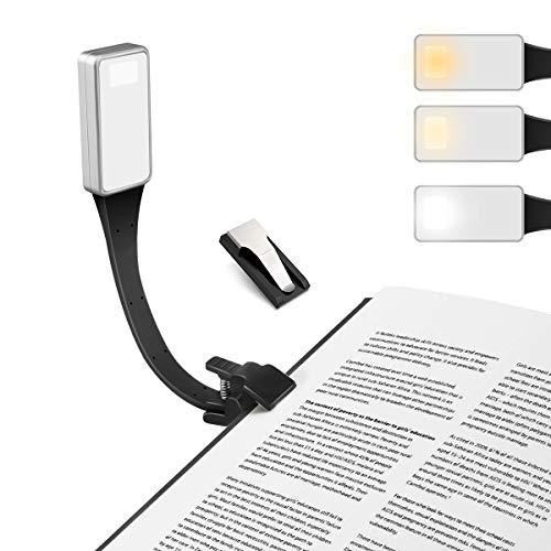 E-More LED Lampe de Lecture, Liseuse Lampe Rechargeable Clip-on Lampe de...