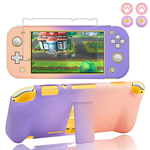 BRHE Switch Lite Case with Kickstand Anti-Scratch Shock-Absorption Protective Grip Cover with Glass...