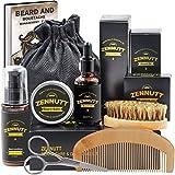 ZENNUTT Kit para el cuidado de la barba con acondicionador de barba y mantequilla de bálsamo para barba y aceite de barba