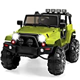 Best Choice Products Kids 12V Ride On Truck w/ Remote Control, 3 Speeds, LED Lights, AUX, Green