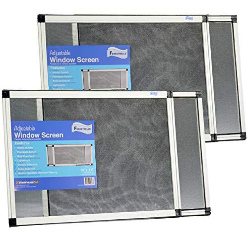 Fenestrelle Expandable Window Screen, 2 Way Adjustable,...