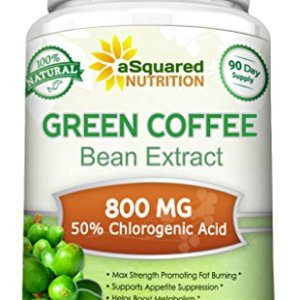 100% Pure Green Coffee Bean Extract - 180 Capsules - Max Strength Natural GCA Antioxidant Cleanse for Weight Loss, 800mg w/ 50% Chlorogenic Acid per Pill, 1600mg Daily Supplement, Healthy Fat Burner 2 - My Weight Loss Today