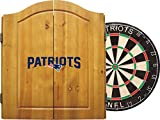 Imperial Officially Licensed NFL Merchandise: Dart Cabinet Set with Steel Tip Bristle Dartboard and Darts, New England Patriots