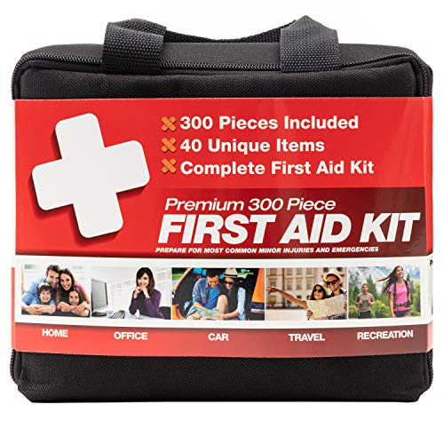 M2 BASICS 300 Piece (40 Unique Items) First Aid Kit   Emergency Medical Supply   for Home, Office, Outdoors, Car, Survival, Workplace