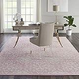 Nourison JUB06 Jubilant Transitional Floral Ivory/Pink Area Rug 7'10' x 9'10', 8' x 10'