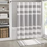 Madison Park Spa Waffle Shower Curtain Pieced Solid Microfiber Fabric with 3M Scotchgard Water...