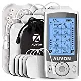 AUVON Dual Channel TENS Unit Muscle Stimulator Machine with 20 Modes, 2' and 2'x4' TENS Unit Electrode Pads