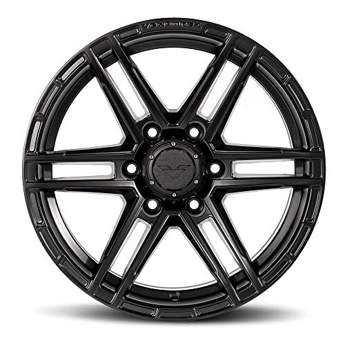 VENOMREX VR-602 17 Inch Flow Forged Wheel Compatible with 09-20 Ford F-150 and Raptor 6x135 Bolt Pattern, 17x9 (+12mm Offset), 87.1mm Bore, Coal Black - 1 PC