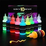 Magicfly Peinture Fluorescente Acrylique Peinture Luisant Dans Le Noir, 10...