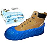 100 Waterproof Shoe Booties, Plumbers Boot Covers, Blue, Size XL, 100 Booties, A-I-A Angel-In-Armor
