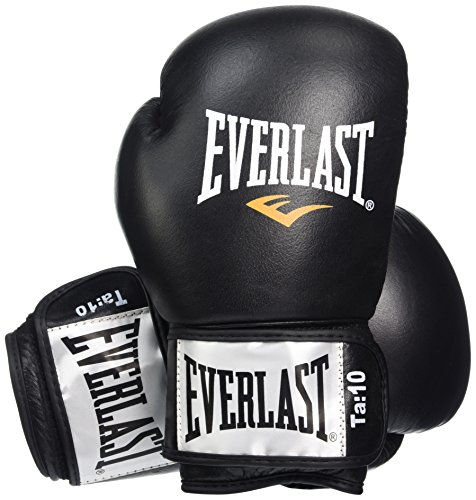 Everlast Fighter - Guantes de Boxeo Unisex, Color Negro, 10oz