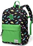 Preschool Backpack,Vaschy Little Kid Backpacks for Boys with Chest Strap Cute Dinosaur)