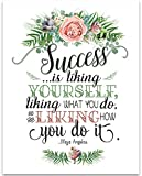 Maya Angelou - Success is Liking Yourself - 11x14 Unframed Typography Art Print - Great Inspirational Gift Under $15