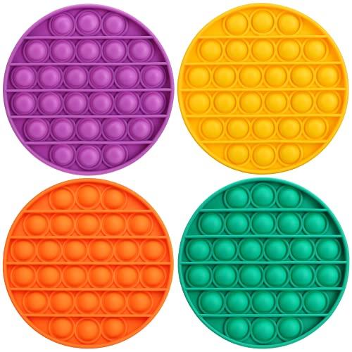 GAMTOOCA Pop Bubble Sensory Fidget Toy, 4 Colors Silicone...