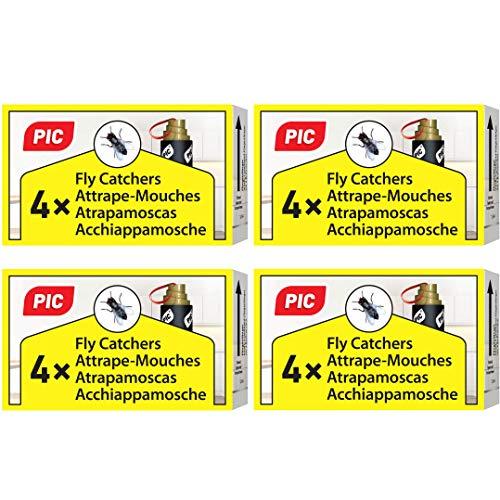 PIC - 16 Pezzi - Acchiappamosche - Ecologico e Senza tossicit - Incluso Gancio per Appendere - Trappola Anti- Mosca verificata