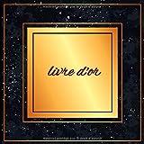 Livre d'or: Un livre d'or pour de multiples occasions | Thème : dorure sur fond noir | mariage-anniversaire-retraite-hôtel-restaurant-gîte | Format 20,96 cm X 20,96 cm-100 pages |