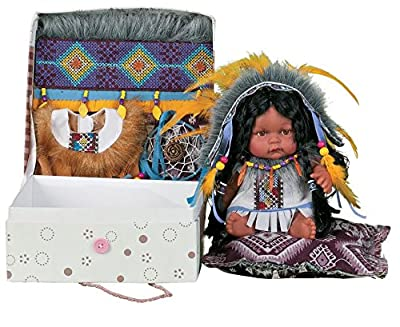 """10"""" Vinyl ( Head, Hands, Feet ) Limited edition indian doll, only 2500 originally made. Due to different monitors/calibrations colors may vary slighty from the actual product. ** This is not a toy. For ornamental,decorational, or collectional purpose..."""