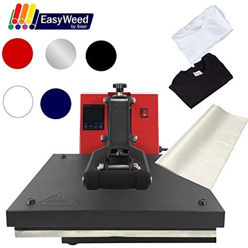 "USCutter 15""x15"" Digital Heat Press Machine, T-Shirts, Vinyl, Non Stick Sheet (Starter Bundle)"