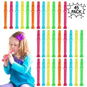 45 Flauta De Plastica Para Niños | Gran Instrumento Más Pequeños Música Principiantes | Varios Modelos Y Colores…