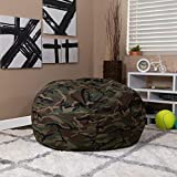 EMMA + OLIVER Oversized Camouflage Bean Bag Chair for Kids and Adults