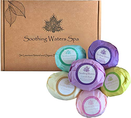 Organic Bath Bombs Set by Soothing Waters Spa