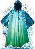 Foxelli Hooded Rain Poncho – Waterproof Emergency Military Ponchos for Adults